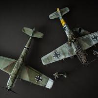 Messerschmitt Bf109E-7 & Bf109E-4